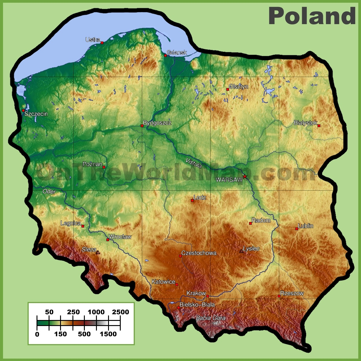 Poland Maps Maps Of Poland - Poland map
