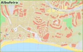 Albufeira old town map