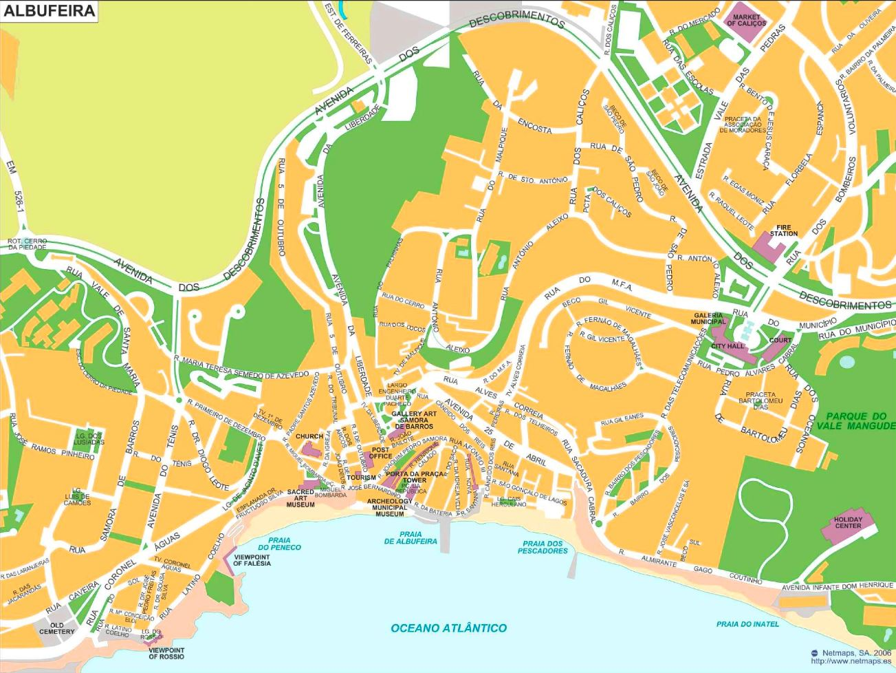 Map Of Albufeira Albufeira tourist map