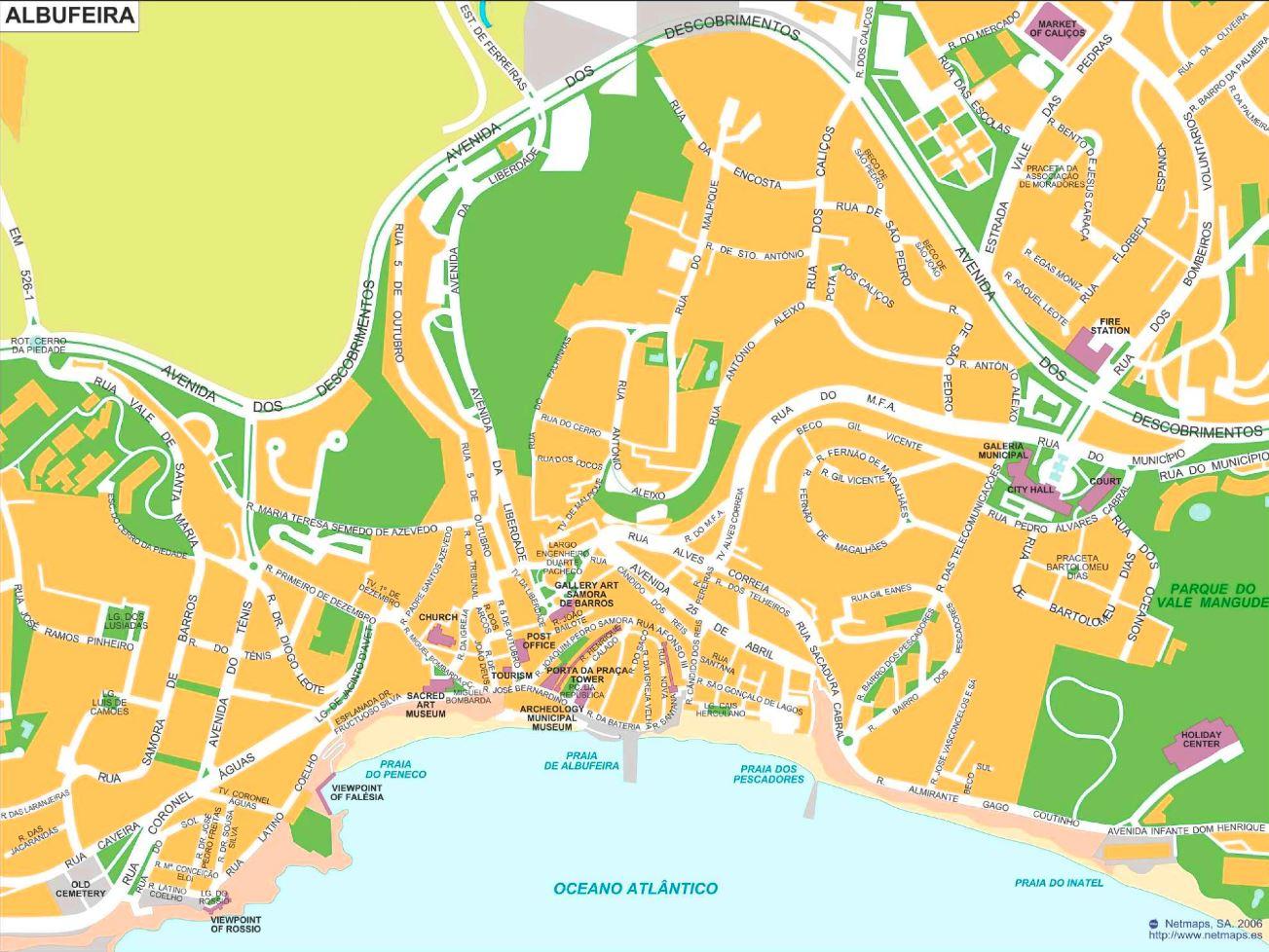 Albufeira Tourist Map