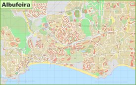 Detailed map of Albufeira