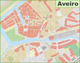 Aveiro city center map