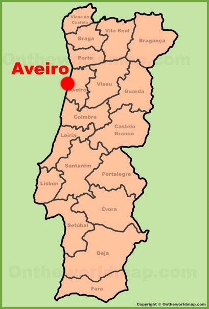 Aveiro Location Map