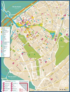 Aveiro tourist map