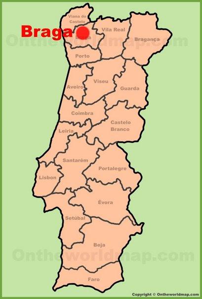 Braga Location Map