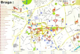 Braga tourist map