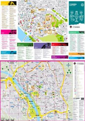 Coimbra tourist map