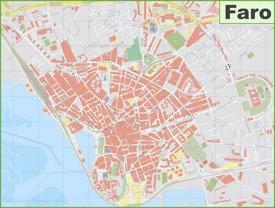 Detailed map of Faro