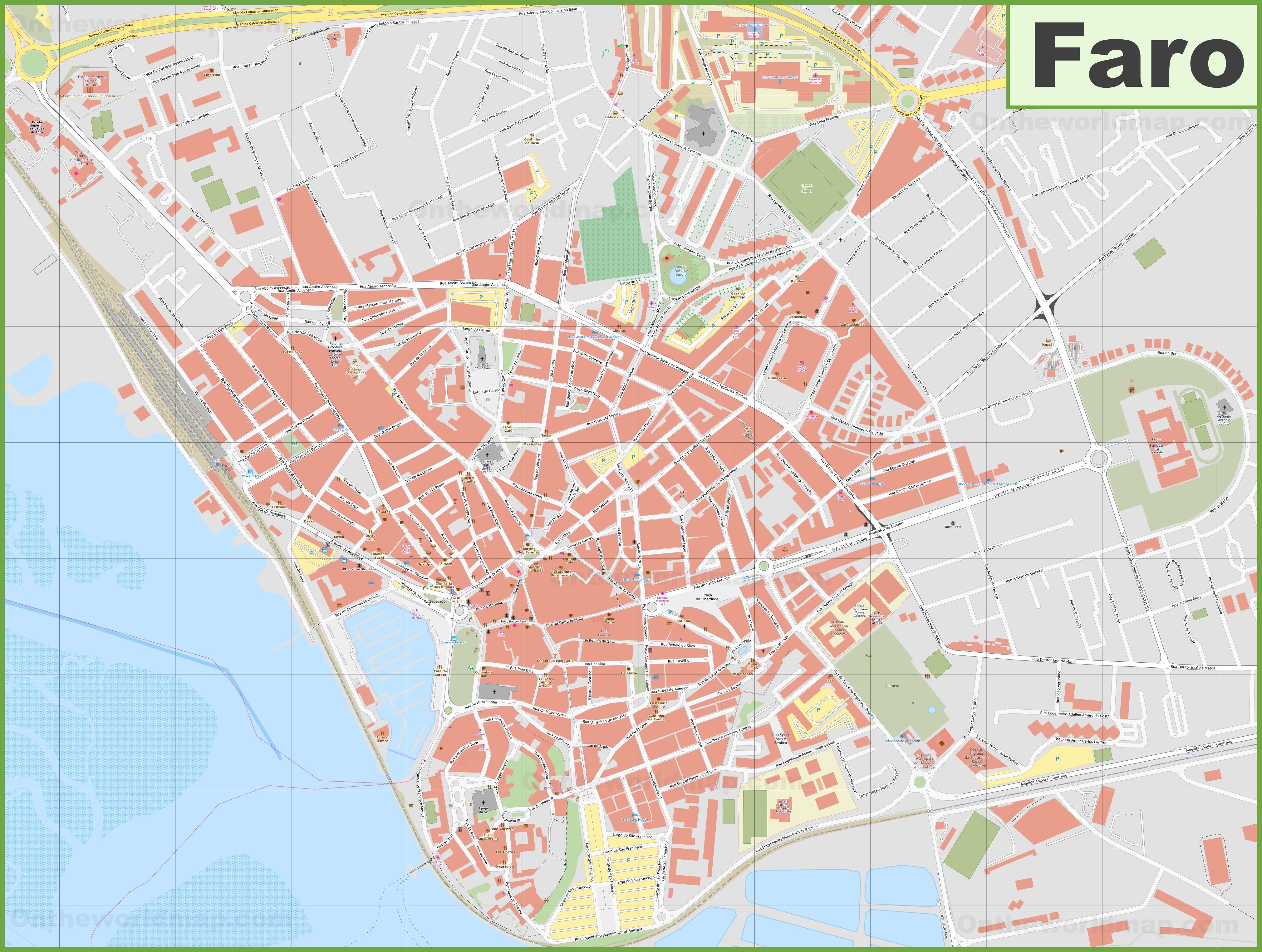Karte Faro
