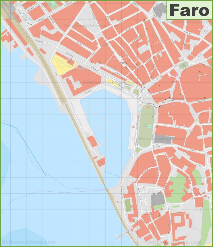Faro city center map