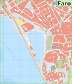 Faro city center map