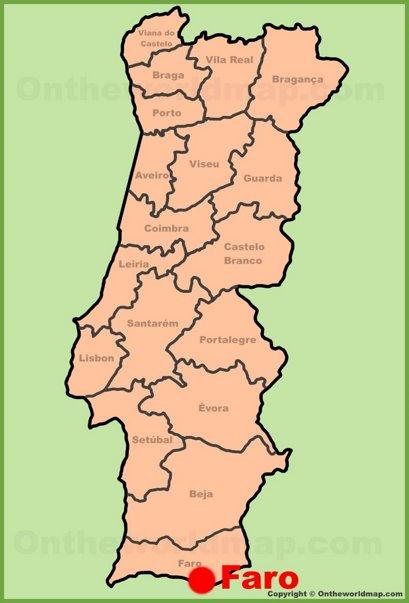 Faro Location Map