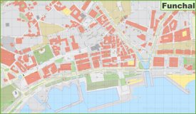 Funchal city center map
