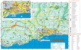 Funchal hotels and sightseeings map