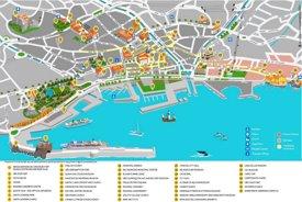 Funchal tourist map