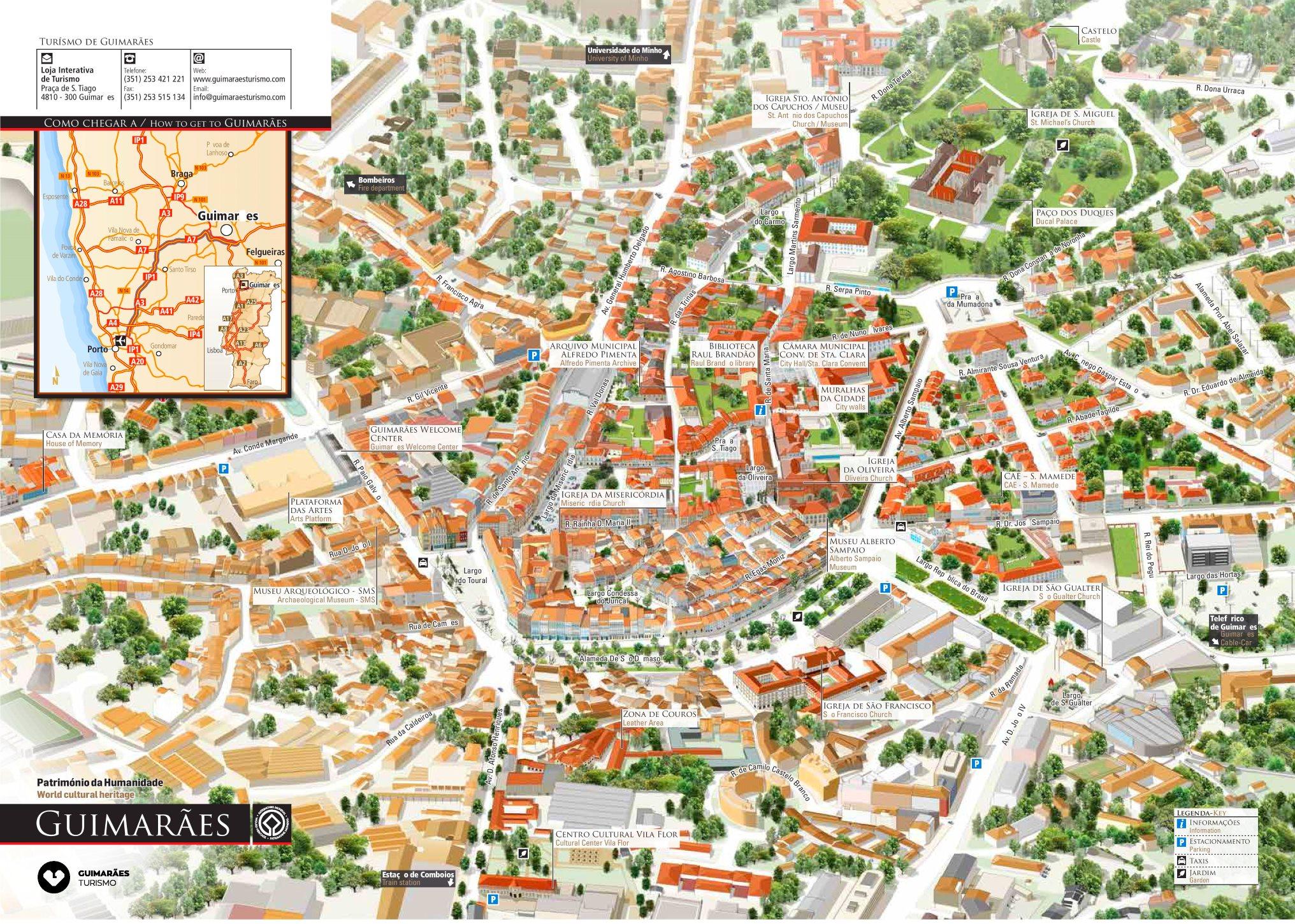 Guimarães tourist map