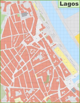 Lagos city center map