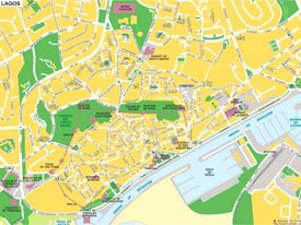 Lagos tourist map
