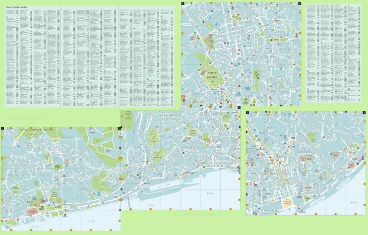 Lisbon street map