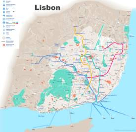 Lisbon transport map