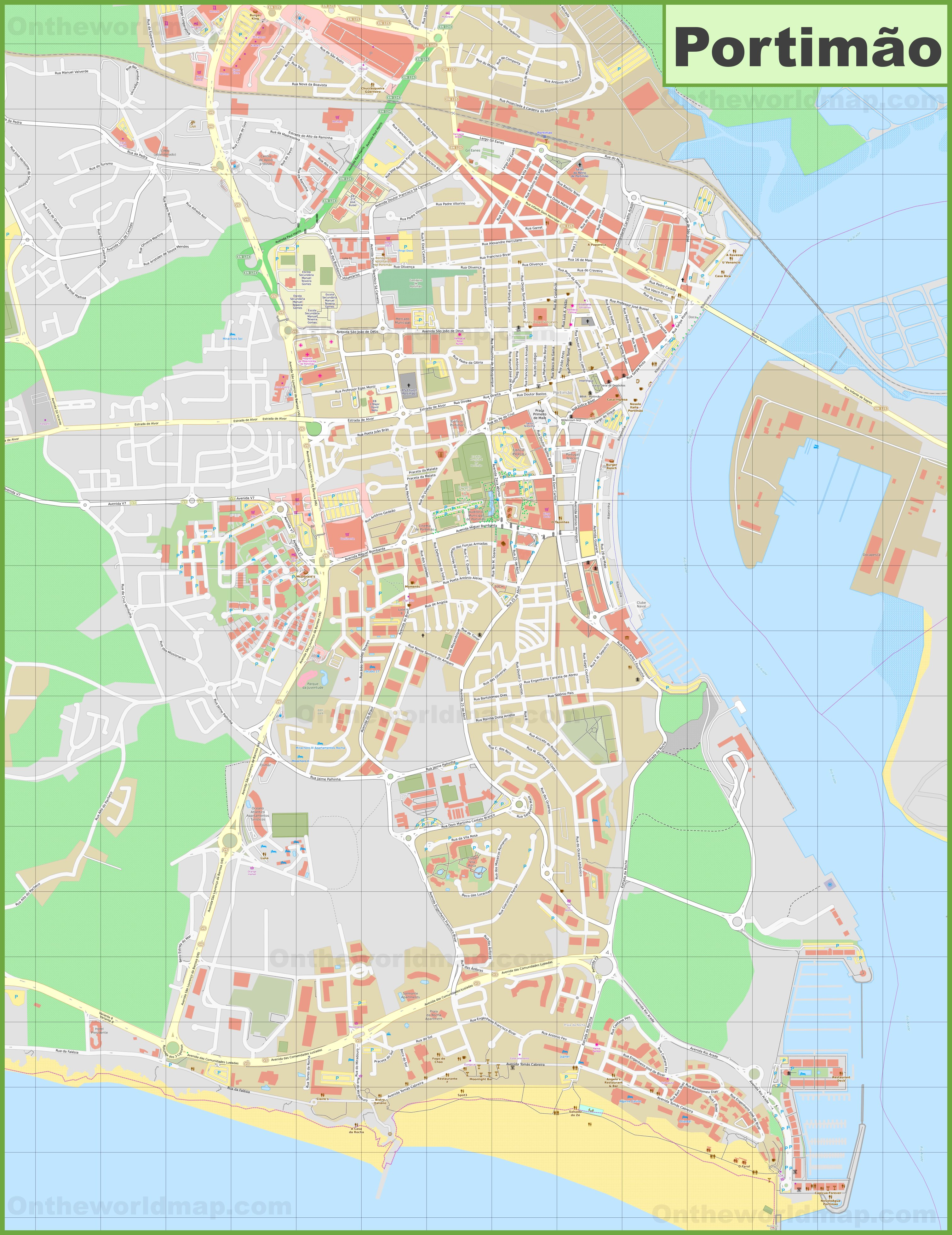 Detailed Map Of Portimao