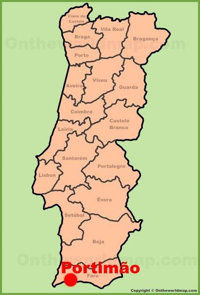 Portimão Location Map