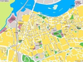 Portimão tourist map