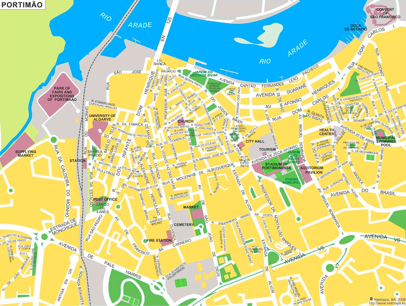Portimao Tourist Map
