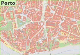 Historic centre of Porto map