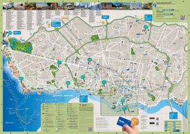 Porto hotels and sightseeings map