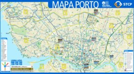 Porto transport map