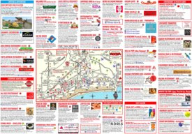 Praia da Rocha hotels and restaurants map