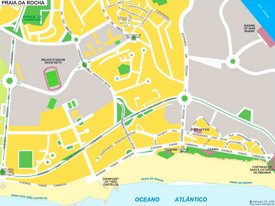 Praia da Rocha tourist map