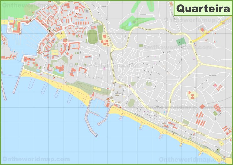 Detailed map of Quarteira