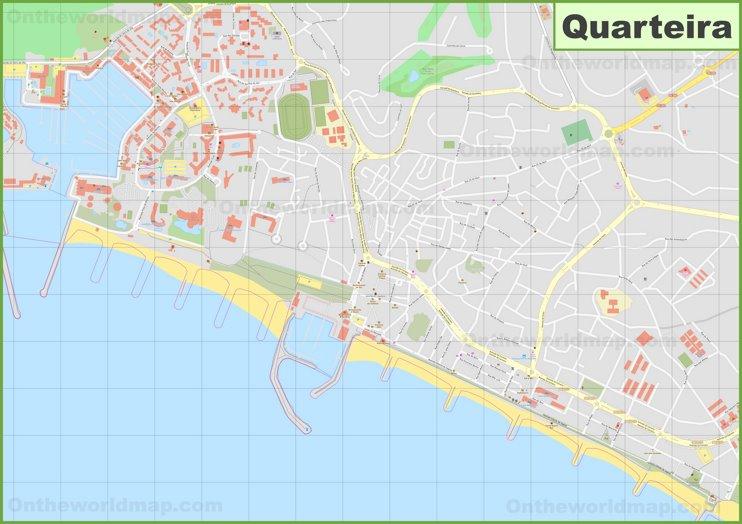 Detailed map of Quarteira