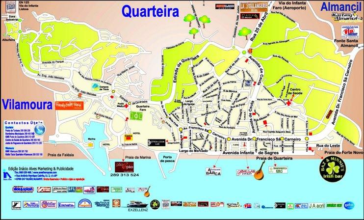 Quarteira tourist attractions map