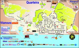 Quarteira tourist attractions map