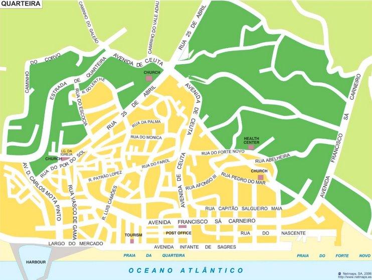 Quarteira tourist map