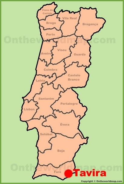 Tavira Location Map