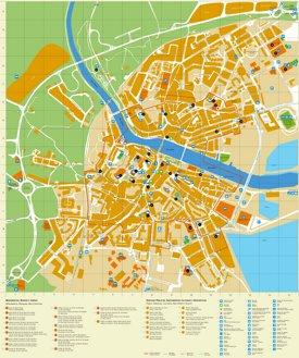 Tavira sightseeing map