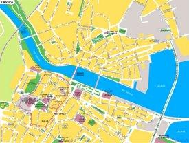 Tavira tourist map