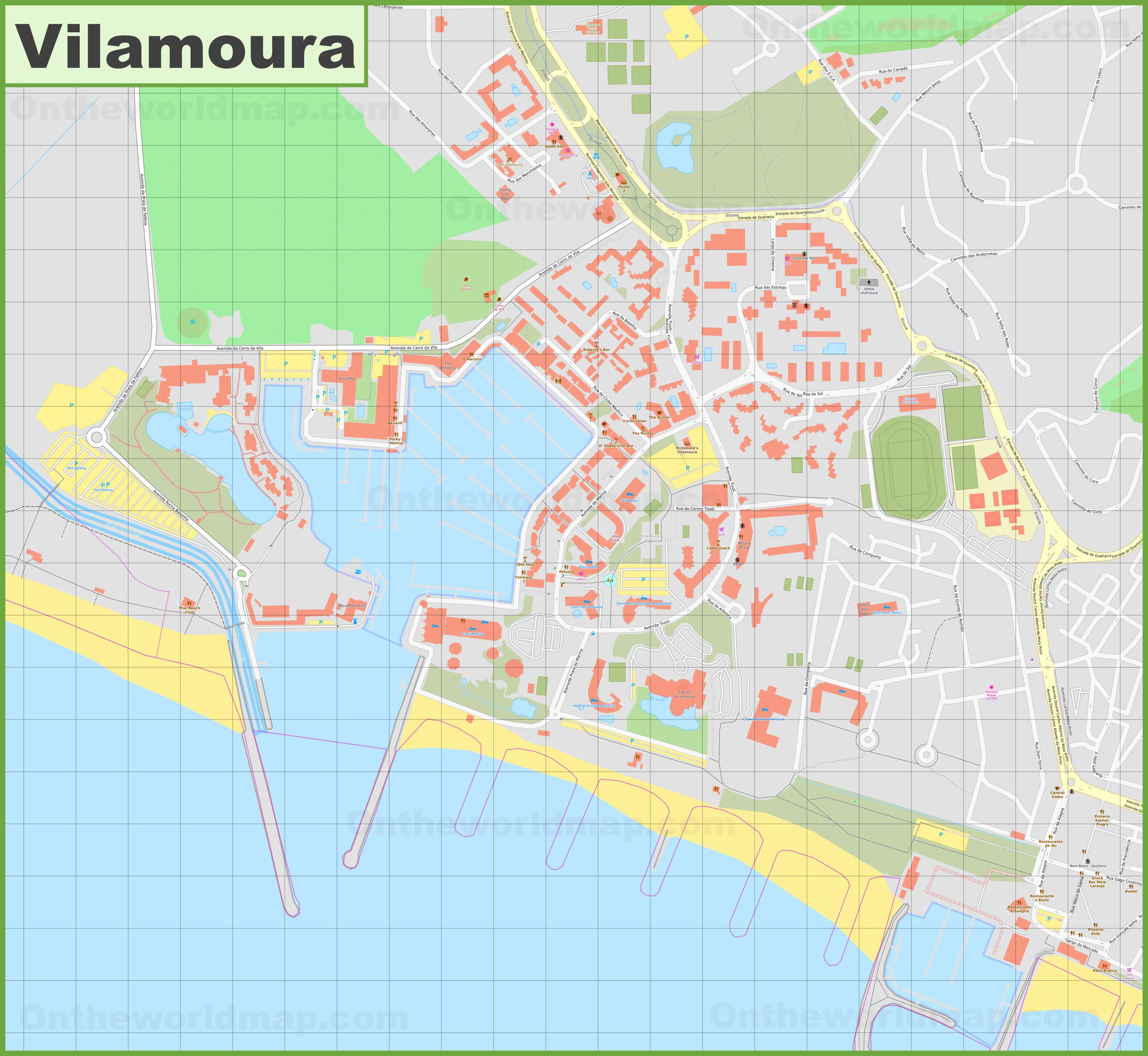 Detailed Map Of Vilamoura