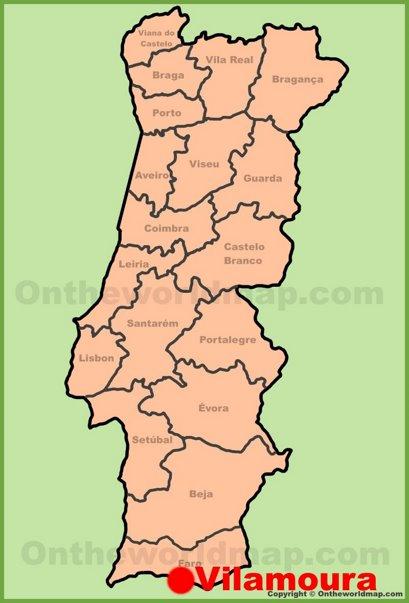 Vilamoura Location Map
