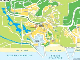 Vilamoura tourist map