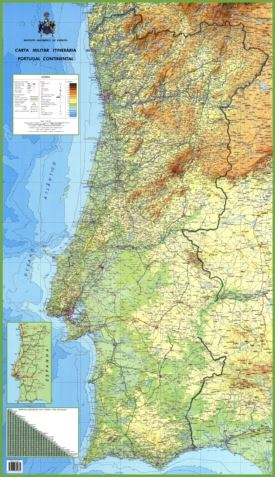 Large detailed map of Portugal