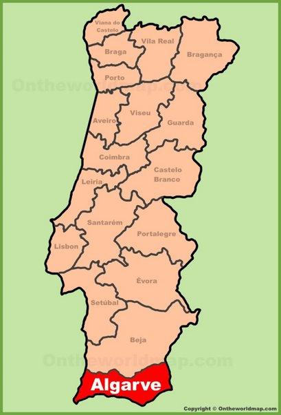 Algarve Location Map
