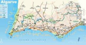 Algarve road map