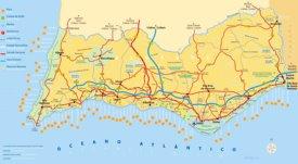Algarve tourist map