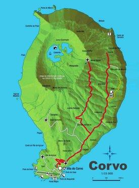Corvo Island Map