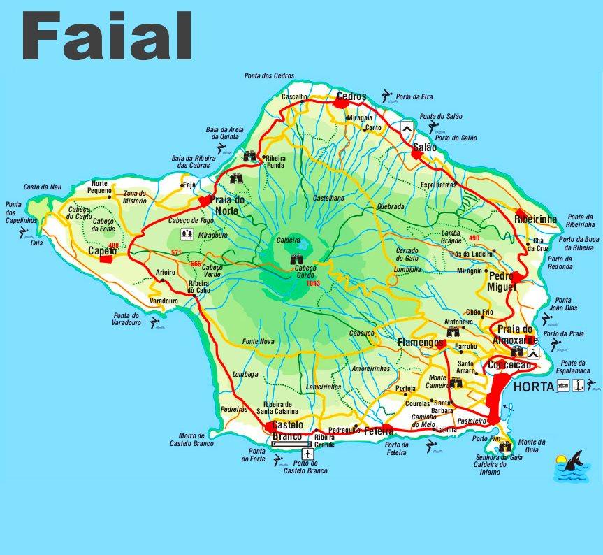Faial Island Map